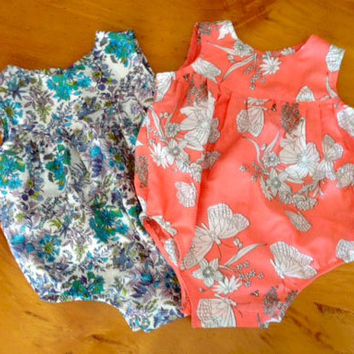 Baby Romper Pdf Sewing Pattern And Photo Tutorial Sizes 000 To 2