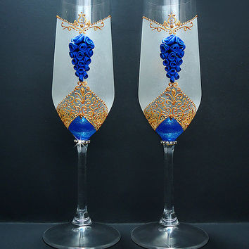 Best Decorated Champagne Flutes Products On Wanelo New Wedding Toasting Gles