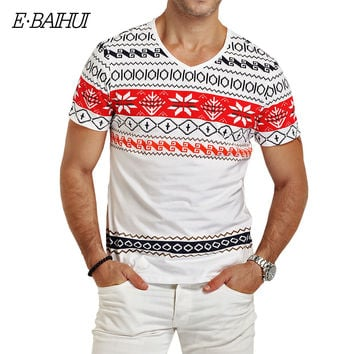 E Baihui Fashion Mens Brand Clothing T Shirts 2017 Indian Style