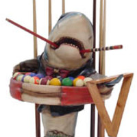 Pool Shark Ball and Cue Holder