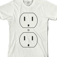 Switch Plate-Unisex White T-Shirt