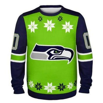 DCCKU3N Seattle Seahawks Official NFL Ugly Sweater - Choose Your Style!
