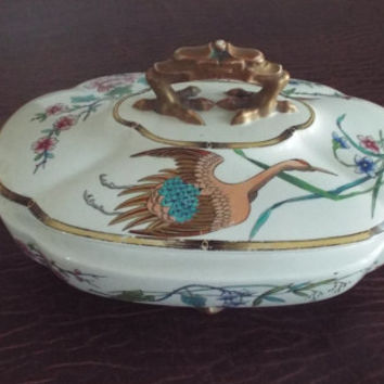 Royal Worcester Soup or Covered Vegetable Dish Tureen Elephant Head Design 1876 - 1891