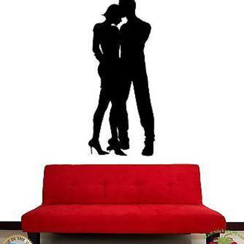 Wall Stickers Vinyl Decal Dance Romantic Love Couple Unique Gift z1087