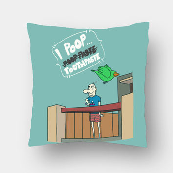I Poop ToothPaste Cushion Covers | Artist : Nitin Kapoor