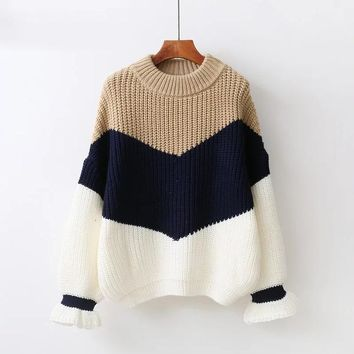 Winter Pull Sweaters Women Loose Jumpers Korean Pullovers Knitting Pullovers Sweater