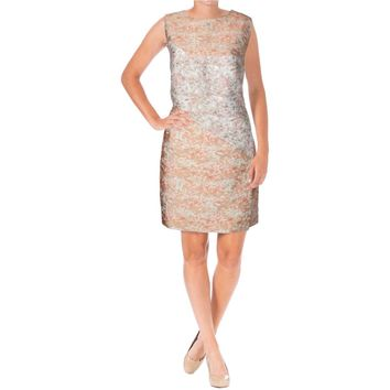 Narciso Rodriguez Womens Cloque Silk Cut-Out Cocktail Dress