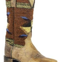 Stetson Chocolate Vamp * Serape 11″shaft Boots Urban Western Wear