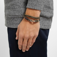 Paul Smith Shoes & Accessories - Woven-Leather Wrap Bracelet | MR PORTER
