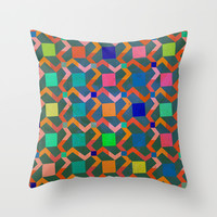 Zig zag Throw Pillow by Tony Vazquez