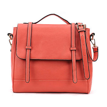 Retro Style Watermelon-red Briefcase [AB2182] - $97.99 :