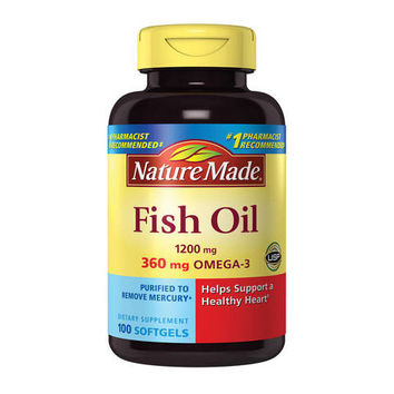 Nature Made Fish Oil Omega-3 Dietary Supplement Softgels