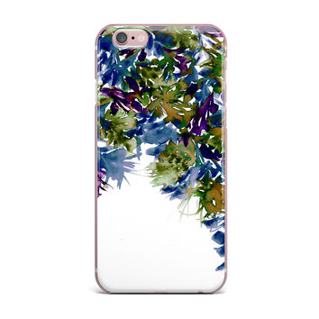 "Ebi Emporium ""Floral Cascade 4"" Purple Green iPhone Case"