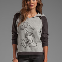 Junk Food Seattle Mickey Hoodie in Stone Heather/Black from REVOLVEclothing.com
