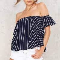 Drop Anchor Off-the-Shoulder Top