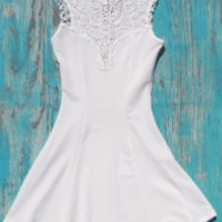 White Crochet Dress | Elusive Cowgirl