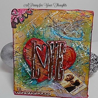Love,Love Always Mixed Media Canvas Board. Ready to Ship