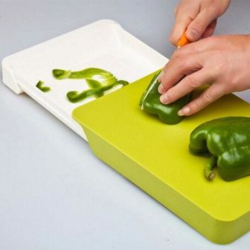 Plastic Chopping Board Multifunctional Two-in-one Drawer Cutting Board