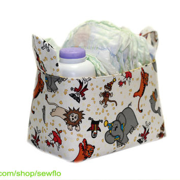 SALE Circus Fabric Storage Bin | Room Storage | Fabric Basket