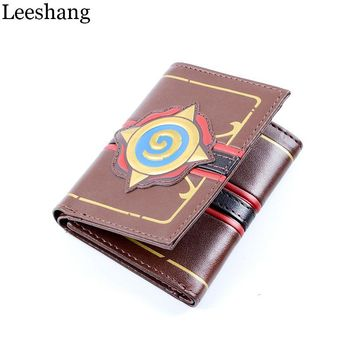 Leeshang Leather Heroes of Warcraft Hearthstone Wallet for Men and Women Three Fold Game Wallets