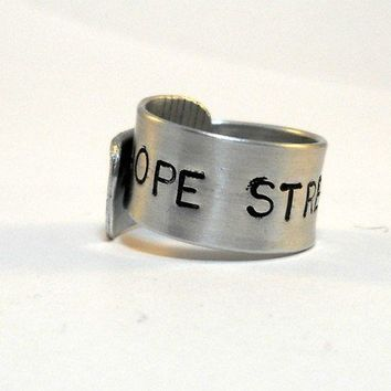 $35.00 Hope Strengthens Ring 100% Proceeds to Japan Disaster Relief by MerCurios on Etsy