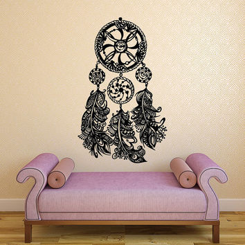 Dream Catcher Decal Wall Decals Bedroom Hippie Native American Vinyl Sticker Bohemian Bedding Home Decor Nursery Dorm Living Room T126