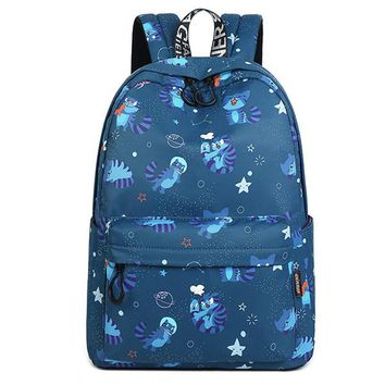 Girls bookbag New Large Capacity Waterproof Fabric Women Backpack Cute Cat Animal Pattern Printing Girls Knapsack Laptop Bookbag Travel Bag AT_52_3