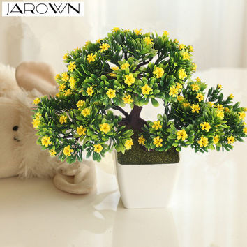 Artificial flower plant potted bonsai fake flower plant pine trees for wedding christmas home decoration