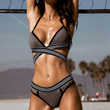 Sporty Grey Bra Set, Grey Two Piece Set - Yandy.com