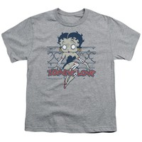 Betty Boop - Zombie Pinup Short Sleeve Youth 18/1