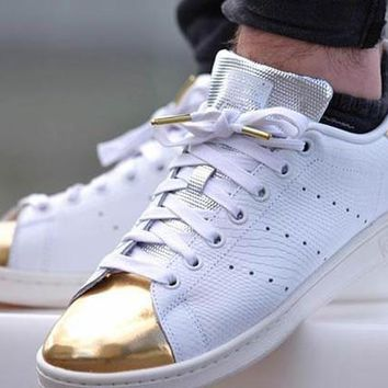 stan smith gold toe snake,Snakeskin, Silver, and Gold Toe Stan Smith Sneaker for men and women,free shipping