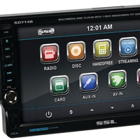 "7"""" Single-Din In-Dash DVD Receiver with Detachable Touchscreen Monitor (Bluetooth-Enabled)"