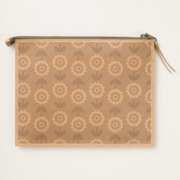 sweet floral pattern travel pouch