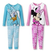 Disney® Toddler Girls' Minnie Mouse & Daphne Duck 4-Piece Mix & Match Pajama Set