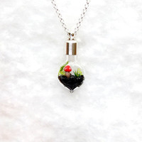 Lost World Mini Terrarium Necklace by Hieropice on Etsy