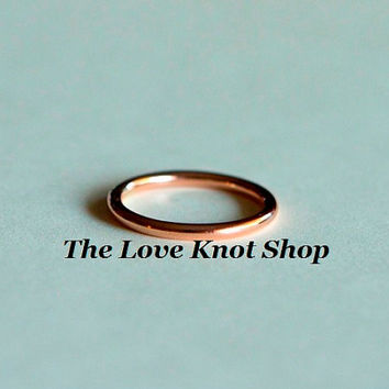 10kt rose gold wedding band, engagement ring, smooth round plain band, also in yellow