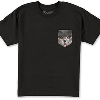 Empyre Boys Pockat Black Pocket Tee Shirt