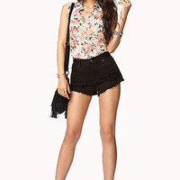 High-Low Floral Print Shirt | FOREVER 21 - 2044795937