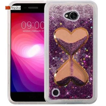 MDFUNDAS Mobile Phone Accessories For LG X Power 2 Case Funnel Bling Glitter Quicksand Fitted Cases For LG X Power 2 Funda