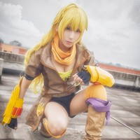 Yang Xiao Long Cosplay RWBY Yellow Trailer Dress Battle Uniform Uwowo Costume