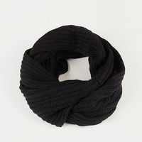 Simply Knit Infinity Scarf - Black / One