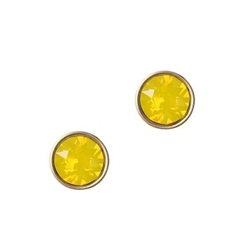 ROSALIE STUDS IN YELLOW OPAL