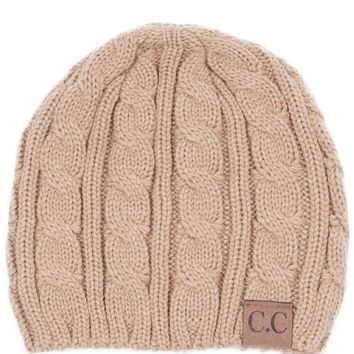 CC Knitted Weaved Beanie
