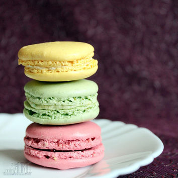 French maracons, food photography, kitchen decor, macro photography, Paris decor 5x7 (13x18) 6x6 (15x15)