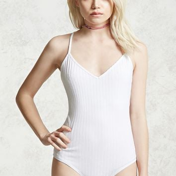 Ribbed Crisscross Bodysuit - Women - 2000321466 - Forever 21 EU English