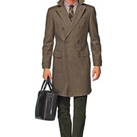 Brown Double Breasted Coat J286i | Suitsupply Online Store