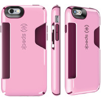 SPECK 73806-C258 iPhone(R) 6/6s CandyShell(R) Card Case (Pale Rose Pink/Cabernet)