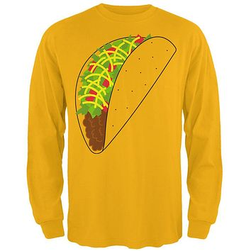 Halloween Taco Food Costume Mens Long Sleeve T Shirt