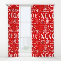 xoxo Window Curtains by famenxt