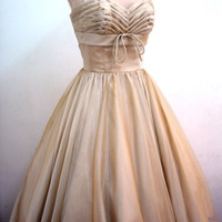 A chiffon 50s cocktail dress in almond custom